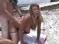 Amber Lynn Bach hot beach sex!
