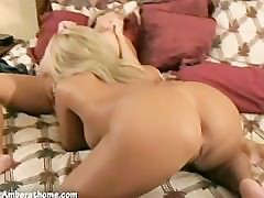 Amber Lynn Bach licking the pussy so good!