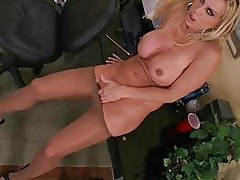 Amber Lynn's Pantyhose Tease