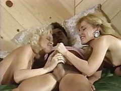 Peter North with Britt Morgan and Lauryl Canyon
