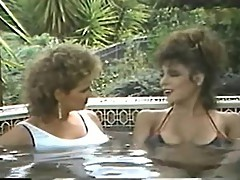 Erica Boyer & Christy Canyon in the Hot Tub