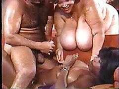 Ebony Ayes (Black), Cajun Queens (Black BBW) & Ron Jeremy