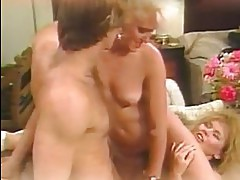 Porn legend Jeanna Fine and her hot friend share a throbbing cock