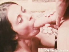 Retro slut takes John Holmes 14 inch big cock