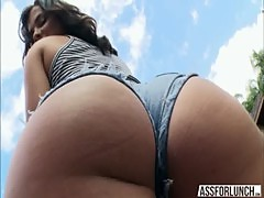 Babe Keisha appreciates hardcore doggystyle fuck with her sweetheart