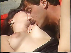 Kristara Barrington deep throats a soliders hard cock