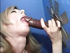 Nina Hartley at a Gloryhole