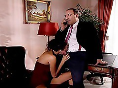 Roberto Malone get a blowjob from his secretary