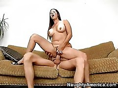 Bawdy Floozy Selena Steele Slamming Her Constricted Warm Snatch On An Agressive Cock