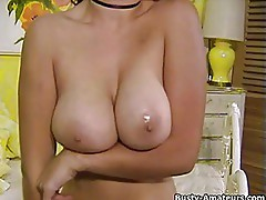 Busty Serena Adams on her hot solo