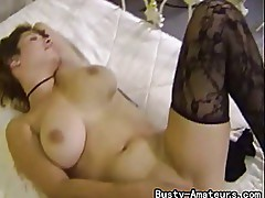 Busty amateur Serena strips and start masturbating her pussy