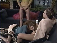 SH Retro Pornstar Siobhan Hunter Fucked By Shemale And Male