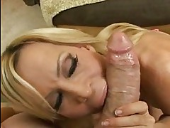 Hot cougar Amber Lynn gets her juicy mouth whacked by a massively hard dick