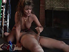 Femdom Bionca 1990's porn star & her slave