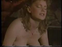 Buffy Davis vintage pool table fuck busty blowjob tittyfuck cum on tits