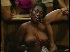 Ebony Ayes Sucks and Titty Fucks Two Guys