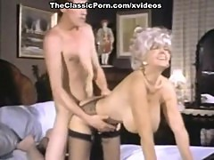 John Holmes, Candy Samples, Uschi Digard in vintage porn clip