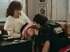 Classic scene with Kay Parker fucking on a desk