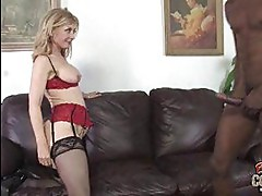Busty milf Nina Hartley fucked by black cock