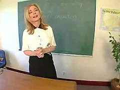 Horny teacher Nina Hartley