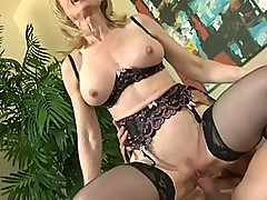 Mature Gal Nina Hartley Gets Her Pussy Drilled