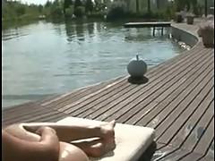 Rocco Siffredi trio by the River shore