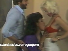 Classic Porn stars SEKA and Vanessa Del Rio threesome fuck party!