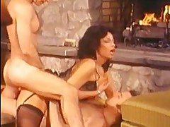 Pornstar legend Vanessa del Rio gets double dicked on her tight warm holes